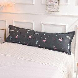 Capa de almofada do corpo fronha longa com zíper impresso macio funda almohada larga 1 peça máquina lavável algodão travesseiro protetor