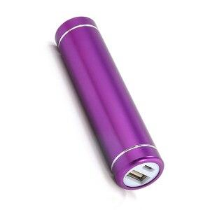 Image 3 - 2600mAh przenośny zewnętrzne USB opakowanie na Power Bank baterii ładowarka do telefonu komórkowego DC 5V fioletowy kolor