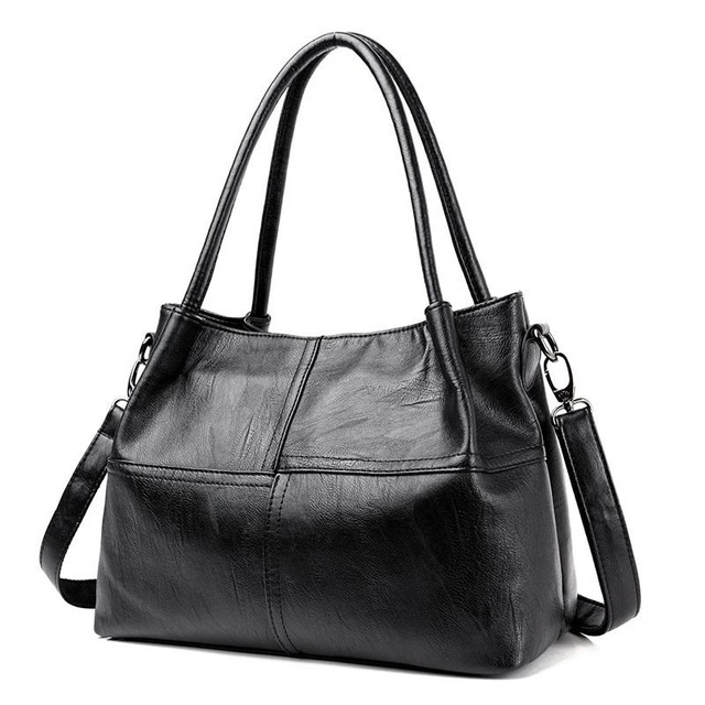 2019 New Ladies Hand Bag Womens Genuine Leather Handbag Black Tote Bag Bolsas Femininas Female Shoulder Bag Leather Women