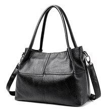2019 novas senhoras saco de mão das mulheres de couro genuíno bolsa tote preto bolsas femininas bolsa de ombro feminina de couro