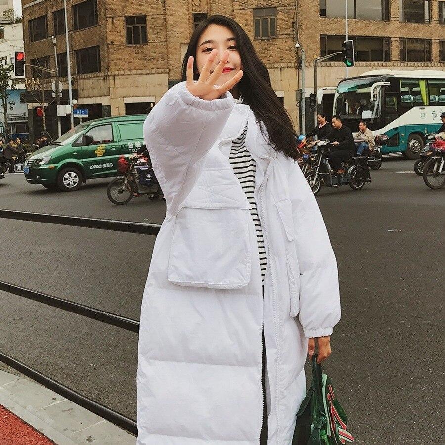 Vêtements Chaud Temps Poche Fonds rembourré Pain Long Coton Réel Stand Overknee Plomb Femme Froid Garder 2018 En Servir Le Sur Bf Au Corée q5w8x6C