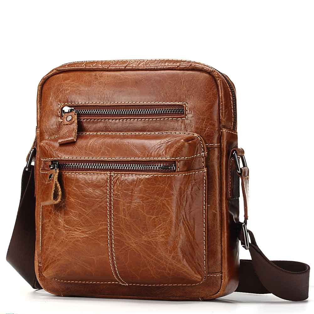 High Quality Men s Messenger Bag Soft Cow Leather Shoulder Bag For Ipad Handsome Casual Crossbody