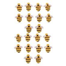 20 штук пчела форма из смолы Flatback украшение для скрапбукинга для DIY Украшение корпуса телефона ручной работы
