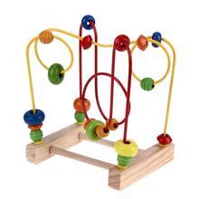 Деревянная математическая игрушка счетные круги из бисера Abacus проволока лабиринт американские горки Монтессори Обучающие для детей