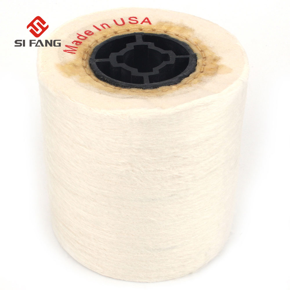 100*100mm Drum Cotton Cloth Abrasive Polishing Wheel  Jewelry Wire Drawing Cloth Wheel For Metal Jewellery Surface Polishing