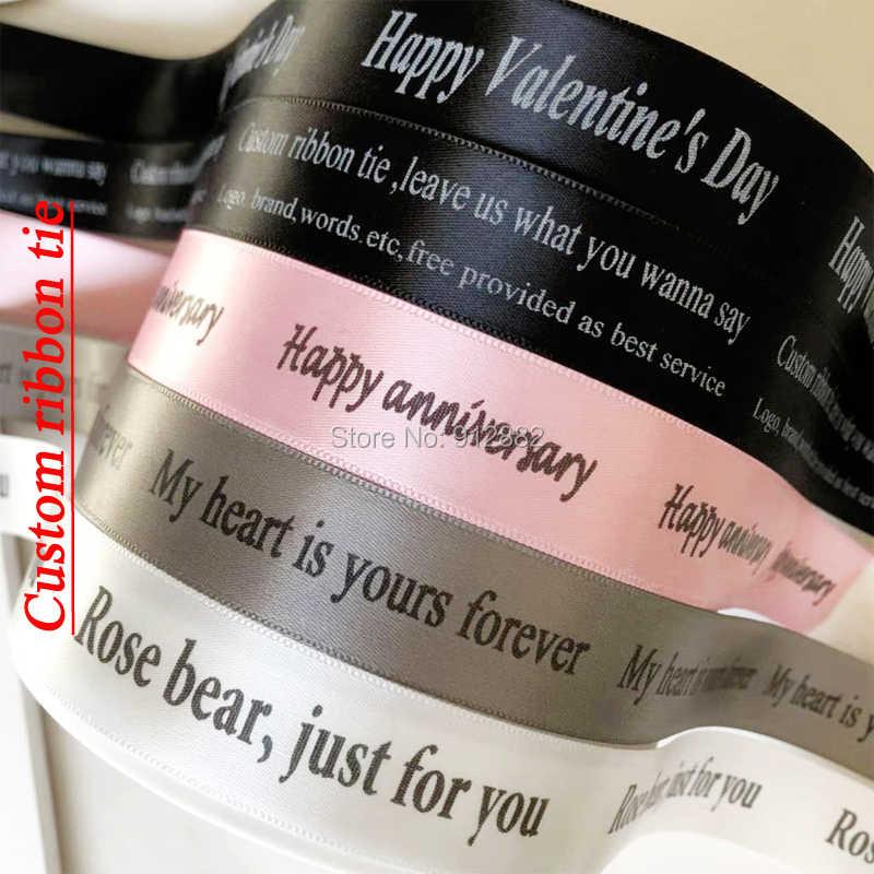 2018 Regalo di San Valentino PE di Colore giallo Rosa Orso Regalo di Nozze Fidanzata Regalo Regalo di Anniversario (free Personalizza Cravatta Nastro)