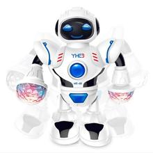 LED Light Music Dancing Electric Robot Toy For Kids Children Electronics Jouets