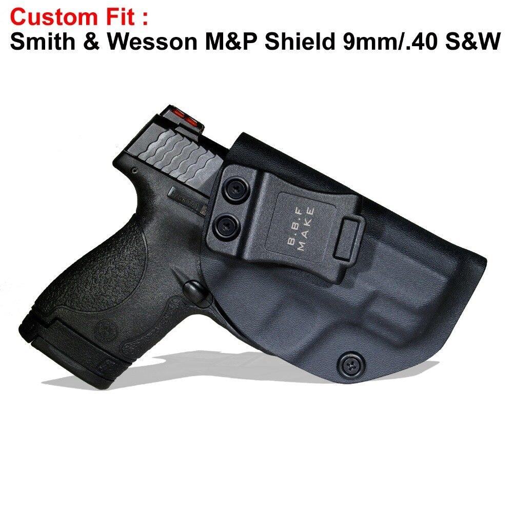 B B F Make IWB KYDEX Holster Fits: M&P Shield 9MM/ 40 s&w Gun