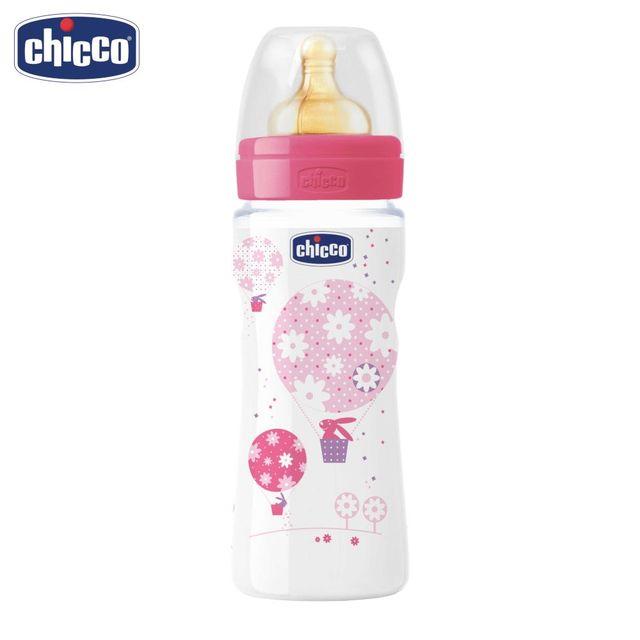Бутылочка Chicco Well-Being Girl 4 мес.+, лат. соска, РР, средний поток, 330 мл