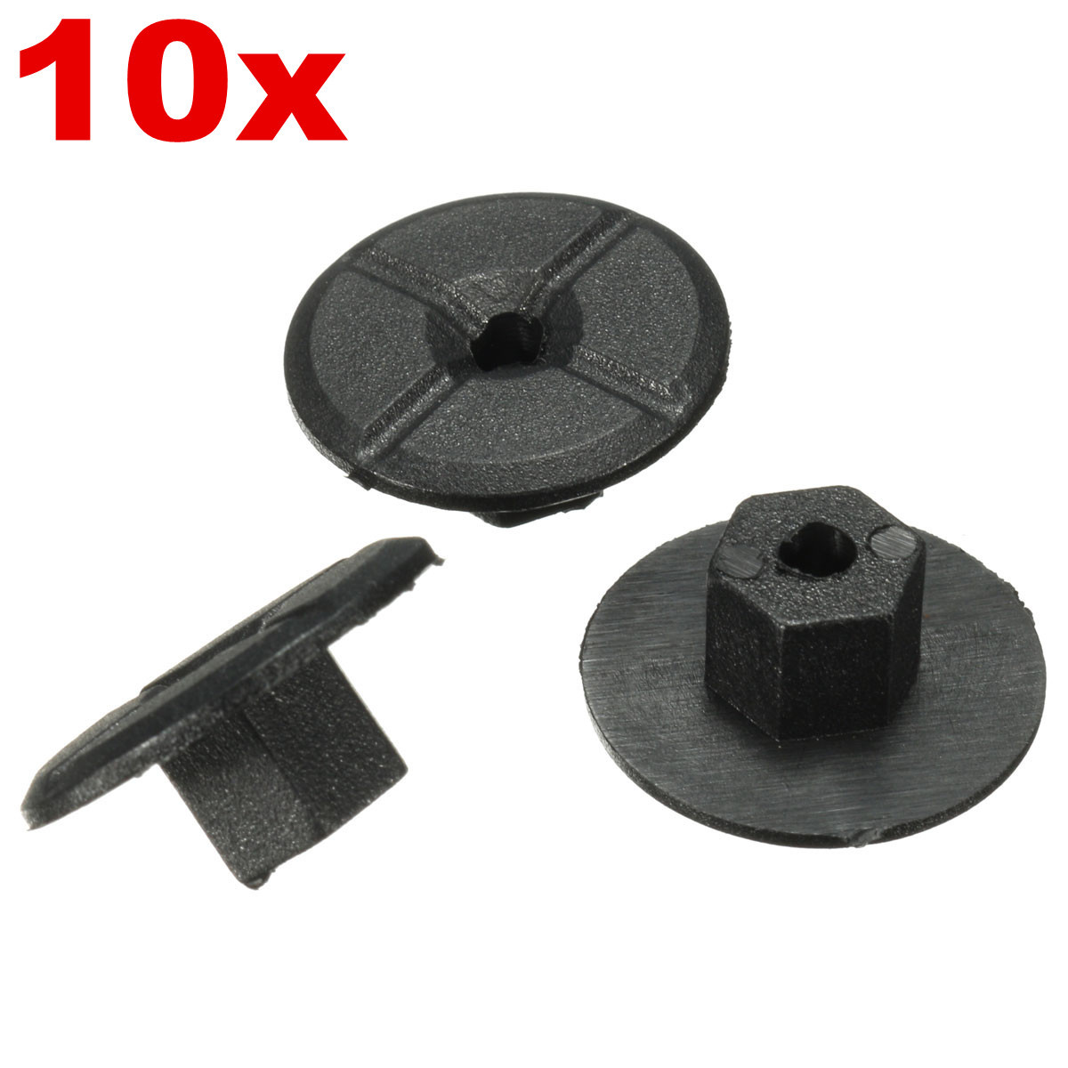 10x Nuts For Saab Plastic Unthreaded 4mm Diameter Hole Bumpers Wheel Arch Lining