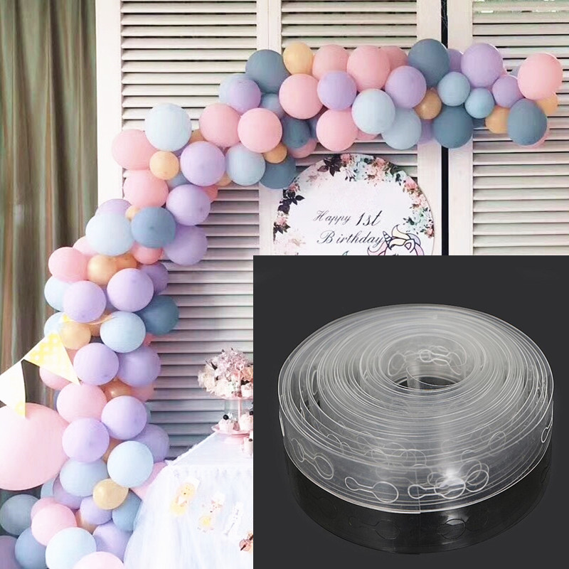 DIY Latex Balloons Modeling Tool Plastic Balloon Chain 5M Balloon Tie Knob Tool Birthday Party Wedding Decoration Supplies(China)
