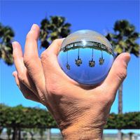 120mm Clear Crystal Ball Photography Photo Glass Decorative Home Decor Gift Lens Prop Background Sphere