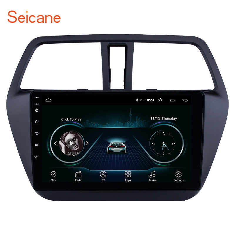 Seicane android 8.1 9 Polegada 4-core rádio do carro hd touchscreen wifi gps multimídia player para suzuki s-cross sx4 2014 2015 2016 2017