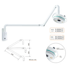 Wall Mounted 36W LED Surgical Lamp Examination Light Shadowless Lamp Surgery Dental Department Pet Clinic Lamp Operation Light dental wall anging medical surgical oral lamp shadowless cold light with arm