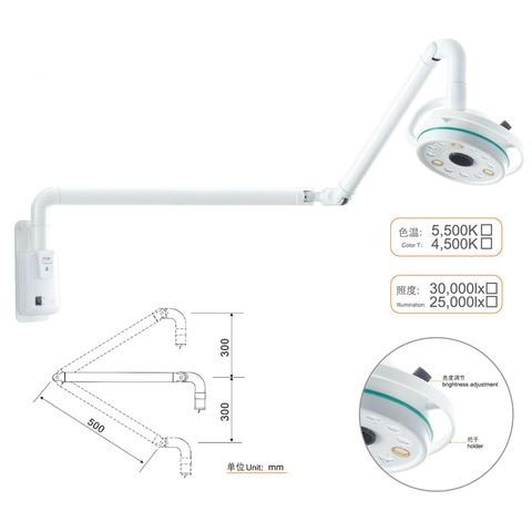 wall mounted 36 w cirurgica lampada luz exame departamento de cirurgia dentaria clinica pet lampada