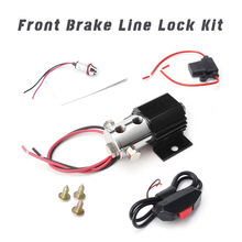 Universal Front Brake Line Lock Kit 12V Rebuildable Line-lock Valve heavy duty push button switch coiled wire