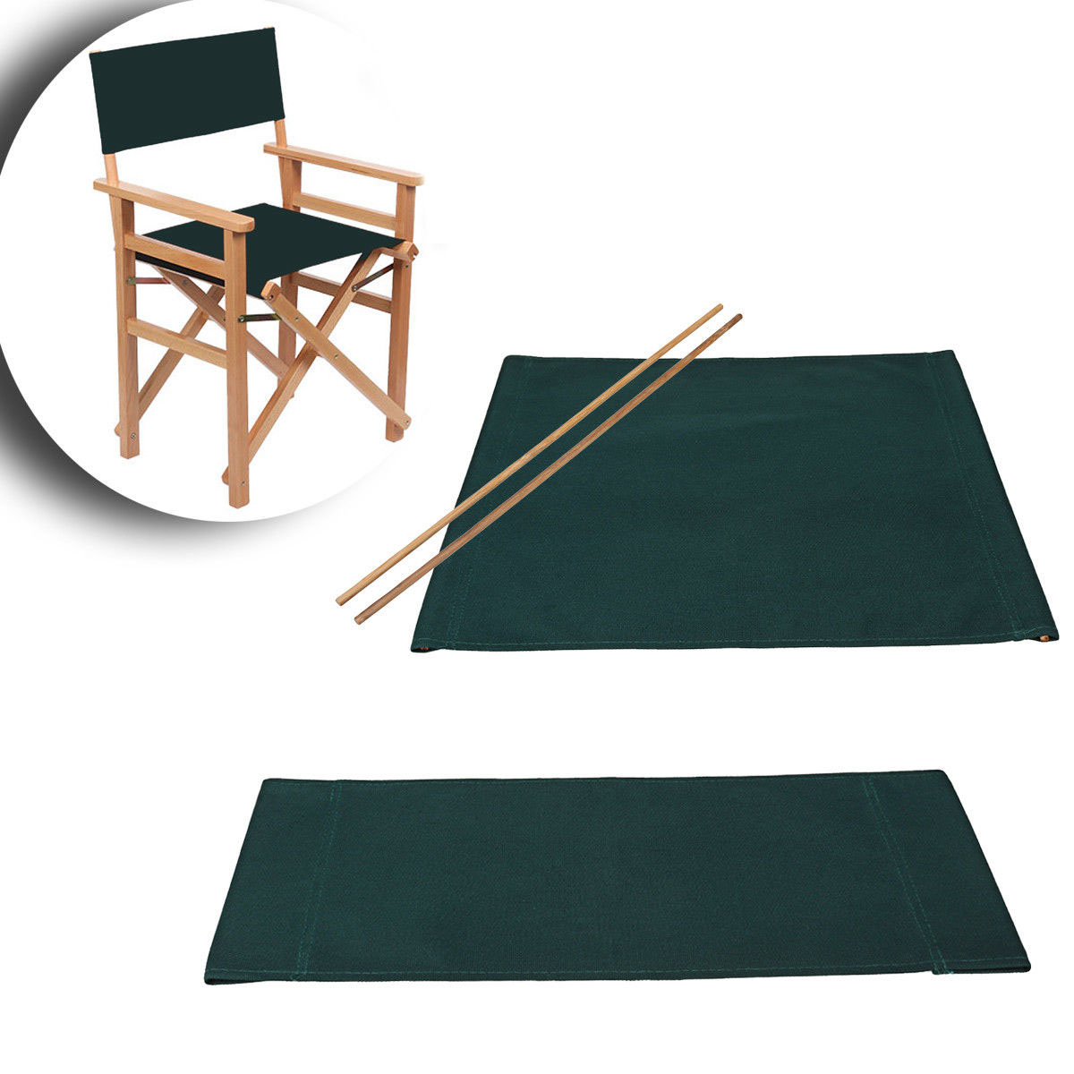 Casual Chairs Seat Back Covers Kit Director Chair Replacement Canvas Cover