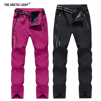 THE ARCTIC LIGHT Women's Winter Fleece Softshell Thermal Pants Outdoor Sports Hiking Trekking Skiing Camping Female Trousers new outdoor pants men women camping hiking mujer softshell pantalon hombre climbing camouflage thermal trekking hunting trousers