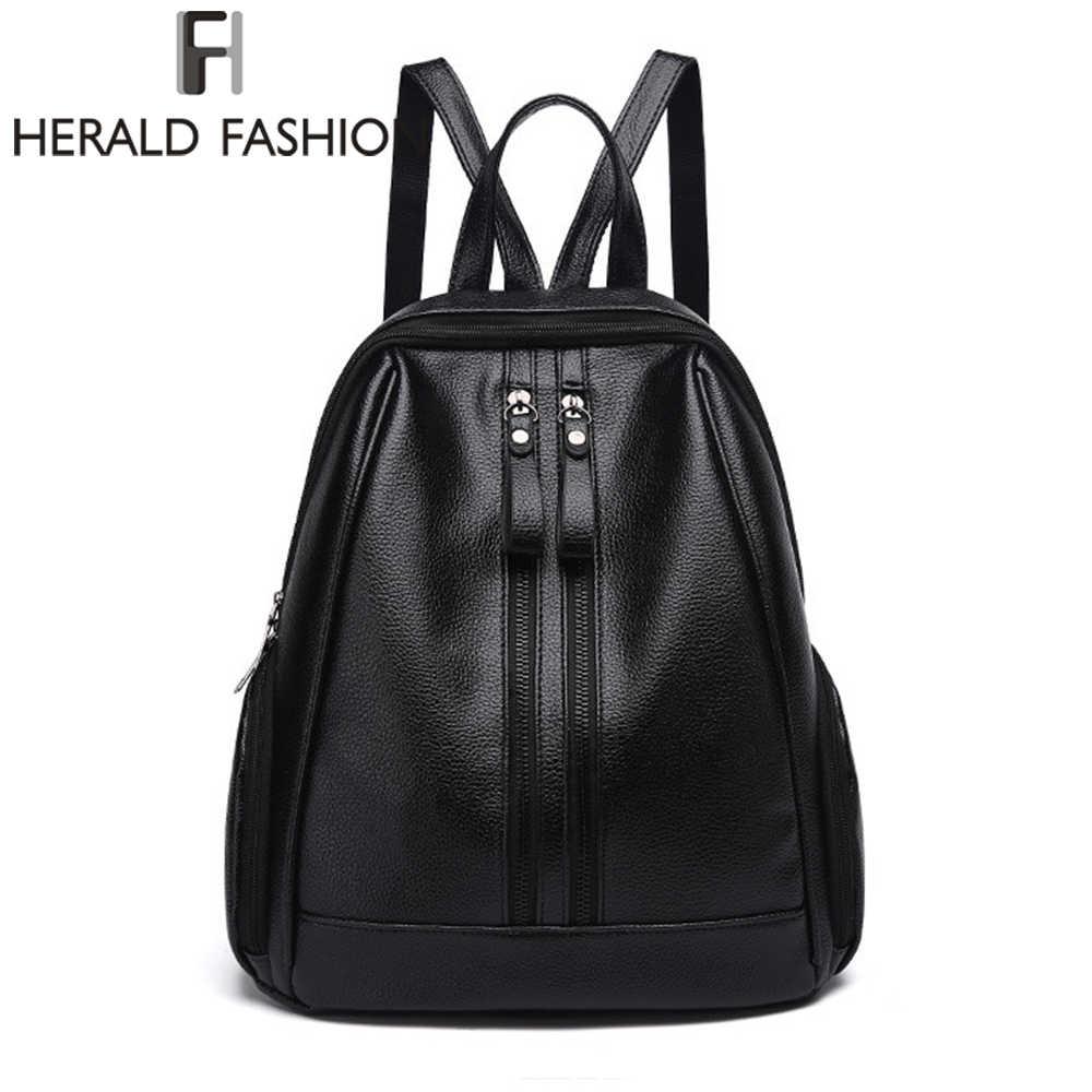 0183eb22a6eb Herald Fusion из искусственной кожи рюкзаки для подростков обувь девочек на  молнии рюкзак женский к школьные