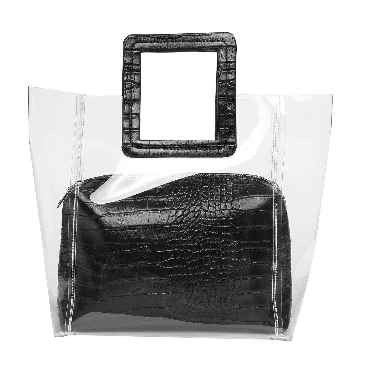 Classy Waterprof Clear Tote Beach Shoulder Crossbody BagClassy Waterprof Clear Tote Beach Shoulder Crossbody Bag