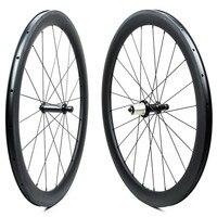 700c Carbon Road Bike Wheel 47mm Wider Aero Rim Tubeless Ready with Powerway R36 Straight Pull Hub and Pillar Wing20 4.3g Spokes