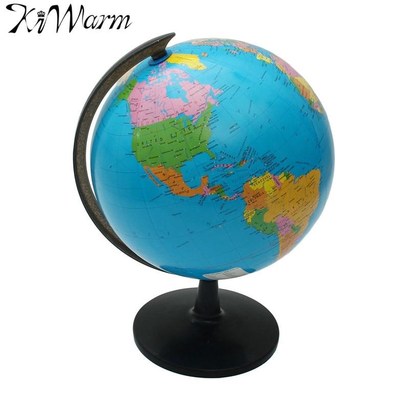 32 cm monde Globe carte ornements avec support pivotant carte du monde géographie étude maison bureau boutique bureau Figurines décorations cadeaux