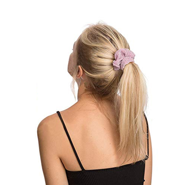 Women Shiny Rubber Band Girls Hair Tie Hair for Hair Glitter Metalic Scrunchies Elastic Ponytail Holder