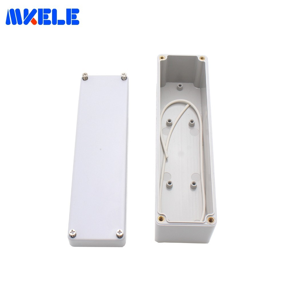 Free Shipping M1 Waterproof Junction Boxes Connection Outdoor Electrical Enclosure Case Wiring Connection Box Gray Cover