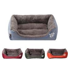 9 Colors Paw Pet Sofa Dog Beds Waterproof Bottom Soft Fleece Warm Cat Bed House For Big Petshop Cama Perro S-3XL