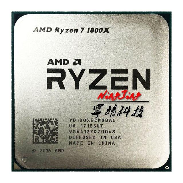 AMD Ryzen 7 1800X R7 1800X3,6 GHz Acht Core Sechzehn Gewinde CPU Prozessor L3 = 16M 95W YD180XBCM88AE Buchse AM4