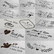 Personalizzato timbro di nozze Auto Inchiostrazione timbro per indirizzo di invito busta Rettangolo 31x41mm timbro personalizzato
