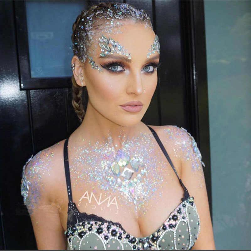 ชั่วคราวสติกเกอร์สักหน้าคริสตัลอัญมณี Rhinestone DIY Face Jewels สติกเกอร์ปาร์ตี้ Body Glitter Stick ใช้งานง่าย