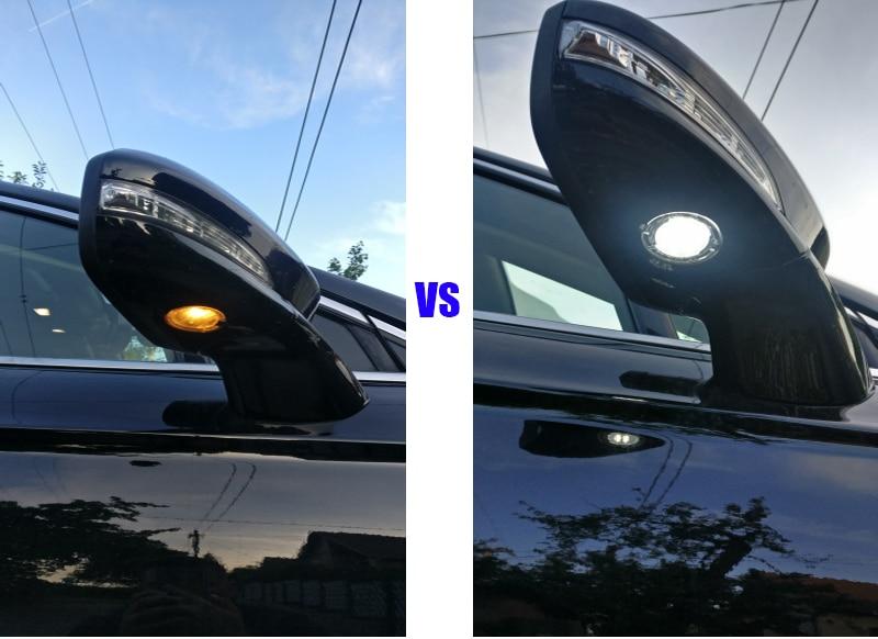 Pārvietošanās 2x Ford LED zem spoguļa skaļruņa F-150 EDGE - Auto lukturi - Foto 3