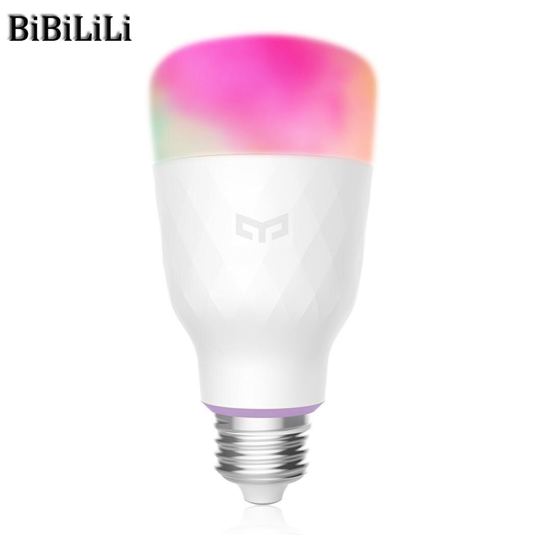 Offre spéciale! Xiao mi Yeelight RGB LED ampoule intelligente couleur E27/E26 ampoule commande vocale mi ampoules intelligentes téléphone télécommande - 5