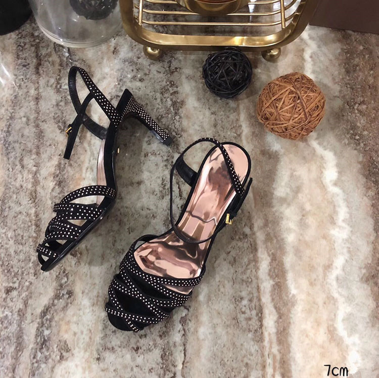 Dünne party 7cm Fashion Frau Schuhe Design Fersen Kristall Fretwork Hohe Tipe Sexy Super Sandalen 5cm 7cm 2018 Sommer 10 Heißer 5cm 10 70qaqw