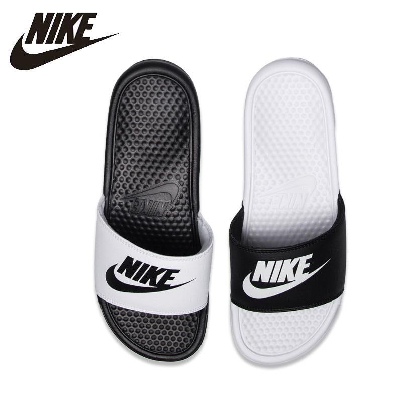 promo code a3f7d b0f43 Nike NIKE BENASSI JDI Black And White Sports Slippers Anti-slip Sandals  343880-090