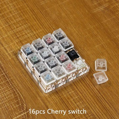 <font><b>Mechanical</b></font> <font><b>Keyboard</b></font> Switch <font><b>Tester</b></font> For Cherry Switches Thickened Acrylic Base Transparent Key Caps With Free Key Cap Puller image