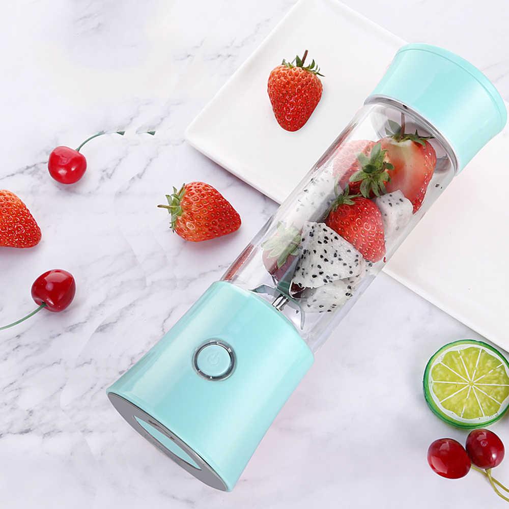 480 ml Manual de Espremedor de Frutas Suco de Vegetais Misturador Elétrico Portátil USB Recarregável Alimentos Juicers Liquidificador Misturador de Frutas Garrafa