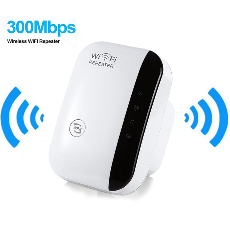 Wi-fi sem fio Amplificador de Sinal Repetidor 802.11N/B/G Wi-fi Extensor de Alcance 300 150mbps Impulsionadores Do Sinal Repetidor Wi-fi Wps criptografia