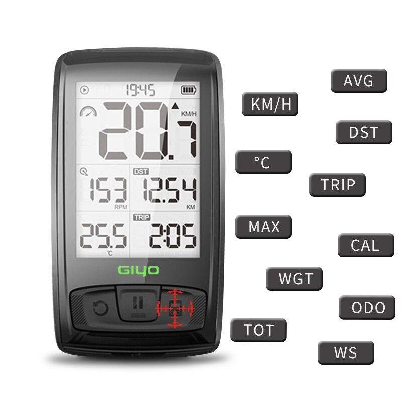 GIYO bicycle code table Bluetooth wireless road bike speedometer odometer backlight waterproof M4 MUSIC