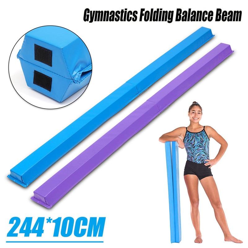 Adult Folding Balance Beam Women Balance Beam Cushion 244X10X7cm Children s Gymnastics Gym Training Equipment For