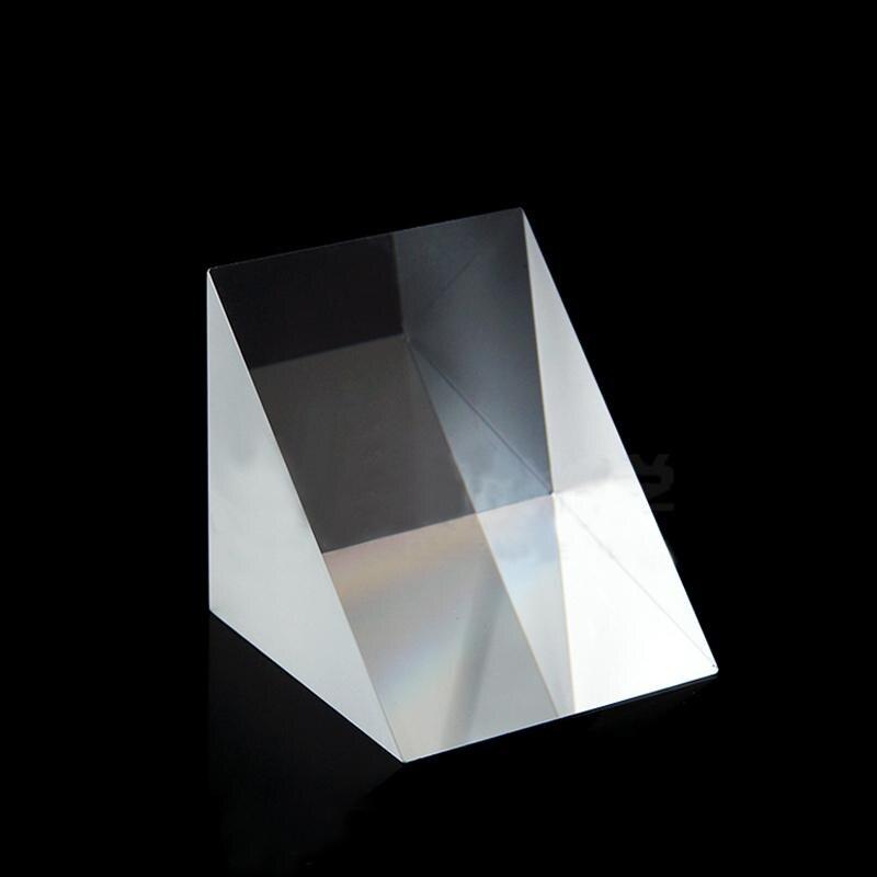 50x50x50mm Optical Glass Triangular Prisms Lsosceles K9 Prism Physics Refractor Light Spectrum Medicine50x50x50mm Optical Glass Triangular Prisms Lsosceles K9 Prism Physics Refractor Light Spectrum Medicine