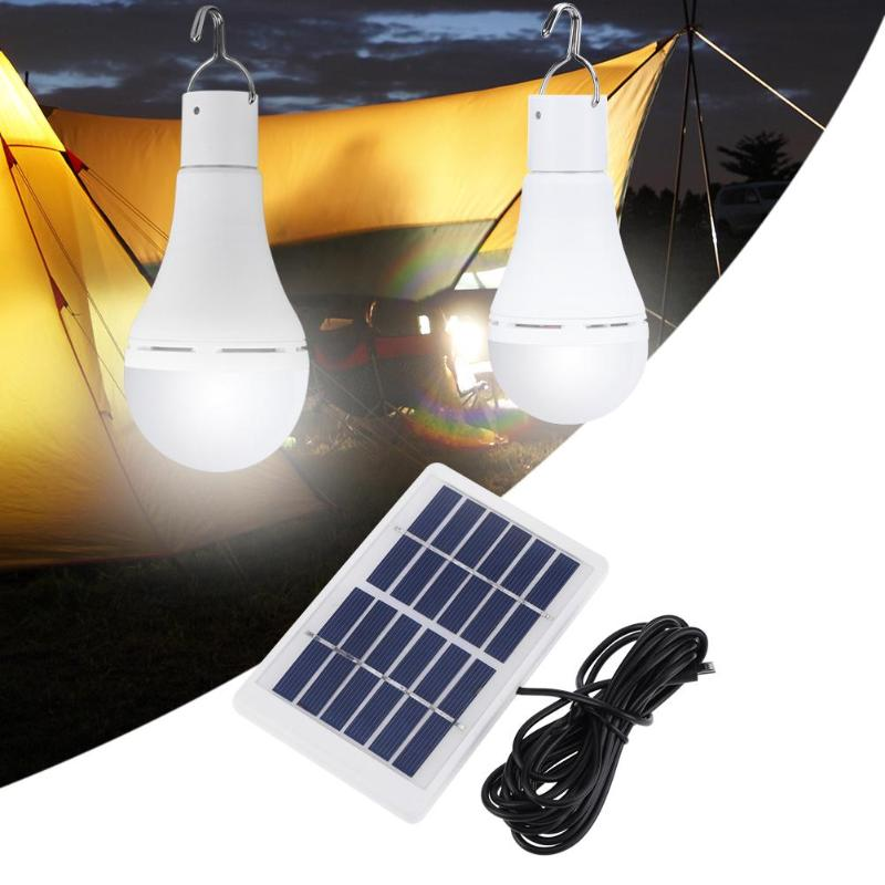5 Modes 20 COB LED Solar Light Portable Solar Light USB Rechargeable Energy Bulb Lamp For Outdoors Camping Tent Solar Lamp