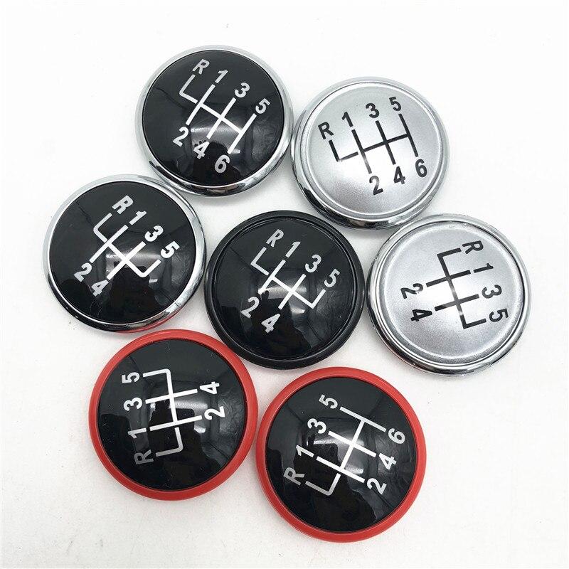 1/x = 35/mm 6/Speed Gear Knob Shift Knob Sticker Emblem Scheme Silicone Stickers 2