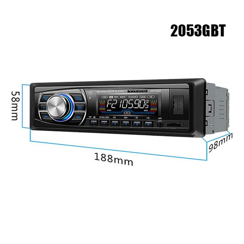 1 Din автомобильный стерео 12 V разъём подачи внешнего сигнала Aux радио в автомобиле Bluetooth FM Тернер Поддержка USB/SD/карт ридер OLED цвет Экран Автомо