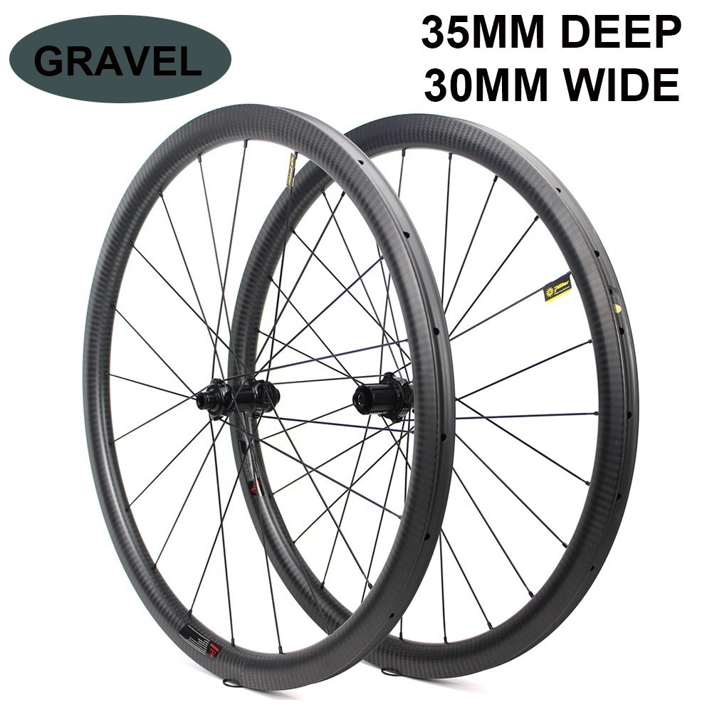 700c Carbon Wheel 32 35mm Tubeless Ready Rim Optional 6 Types Of Hub And Pillar 1423 Spoke For Road Disc Cyclocross gravel Bike in Bicycle Wheel from Sports Entertainment