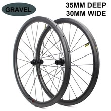 где купить 700c Carbon Wheel 32*35mm Tubeless Ready Rim Optional 6 Types Of  Hub And Pillar 1423 Spoke For Road Disc/Cyclocross/gravel Bike дешево