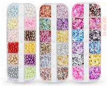 Nail Art Jewelry Glitter Sequins 12 Grid  Ornaments Symphony Pearl Seashells Decoration Accessories Nails Tips Tools