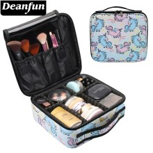 Deanfun Makeup Case Rainbow Cute Unicorn Water Resistant Star Pattern Cosmetic Bag Travel Organizer Gift  16009 cosmetic star магазин