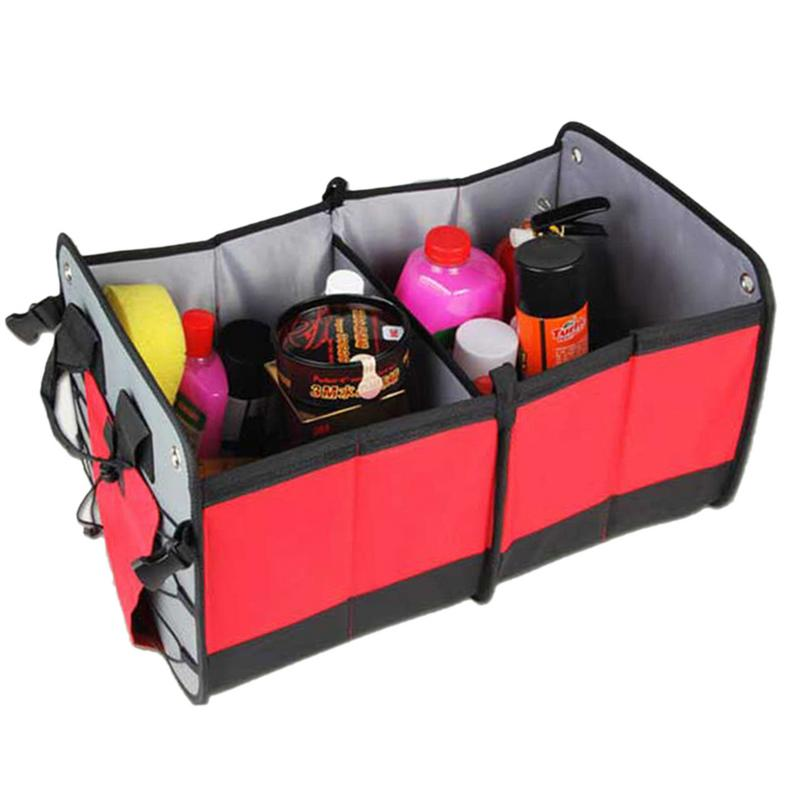 Car Interior Accessories Multi function Folding Storage Box Stowing Tidying Big Trunk Bag Large Capacity Portable